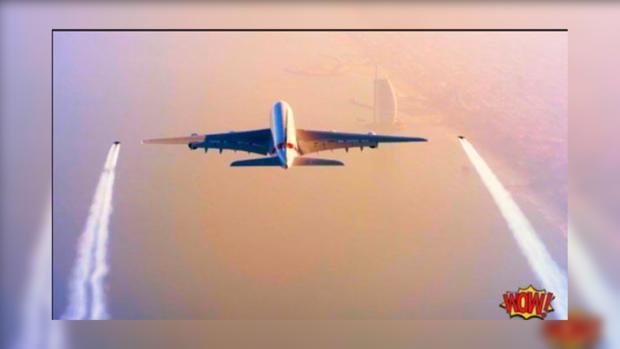 «Реактивные люди» устроили гонку ссамолетом Airbus A380