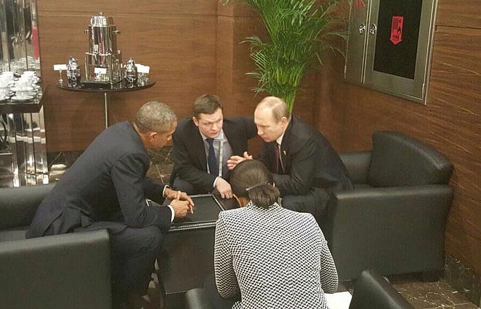 Владимир Путин и Барак Обама впервые за полгода поговорили по ... | 450x700