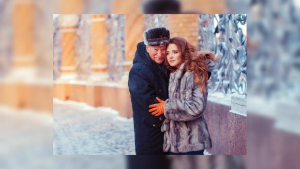 85-летний Иван Краско снялся в романтической фотосессии со своей 25-летней супругой