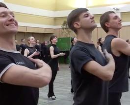 В Киеве прошла репетиция-поединок между танцевальными коллективами из Украины и Грузии