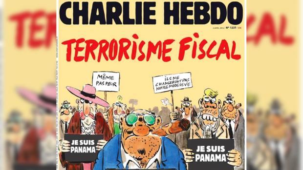 Charlie Hebdo продемонстрировал обложку скарикатурой натему офшорного скандала