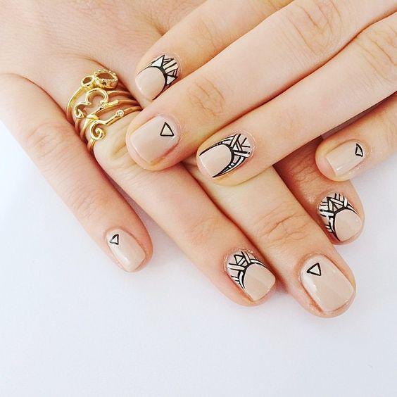 Современные рисунки на ногтях