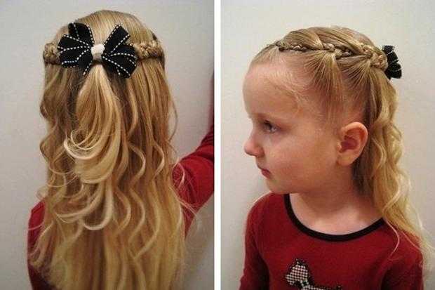 Прически детям на средние волосы на утренник