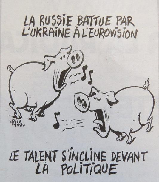 Charlie Hebdo высмеял Джамалу и Лазарева