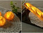 Оригинальные лампы в виде булочек и багета