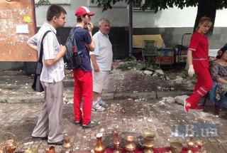 Новости Киева: в центре столицы карниз упал на людей, есть жертвы