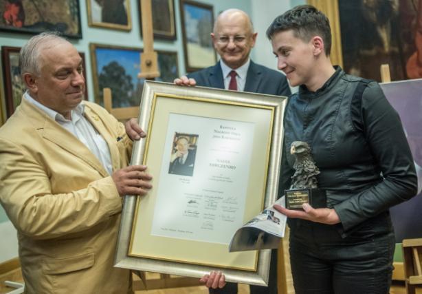 ВПольше Савченко вручили престижную награду— Настоящий орел