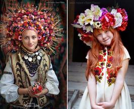 Арт-проектукраинки в венках: «Произведения искусства в чистом виде»