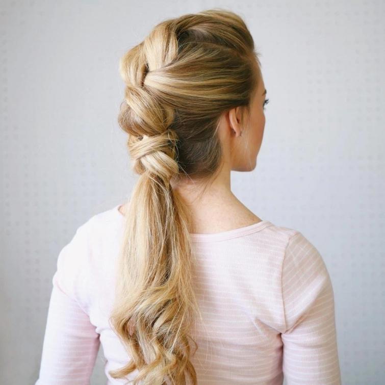 Причёски с хвостиком картинки
