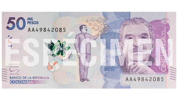 Выпущена банкнота сизображением писателя Маркеса