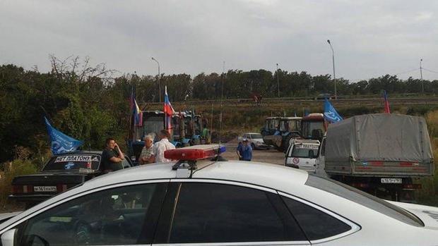 Кубанских фермеров заблокировали иобвинили внезаконном пикетировании