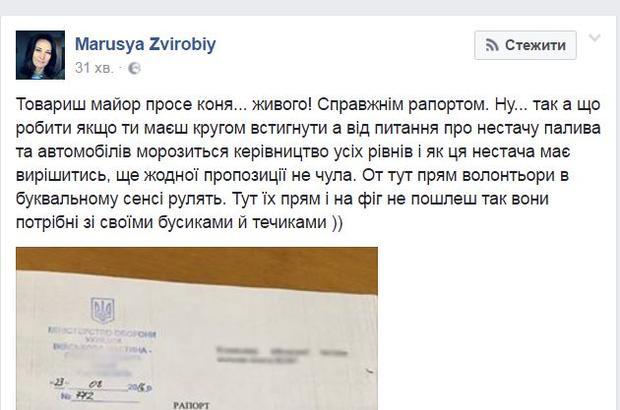 Украинский майор потребовал выдать ему коня для службы напередовой