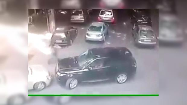 Камера наблюдения запечатлела расстрел 2-х мужчин вТбилиси