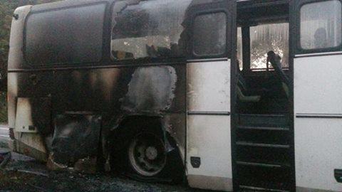 ВВинницкой области вспыхнул автобус сдесятками людей: появились фото