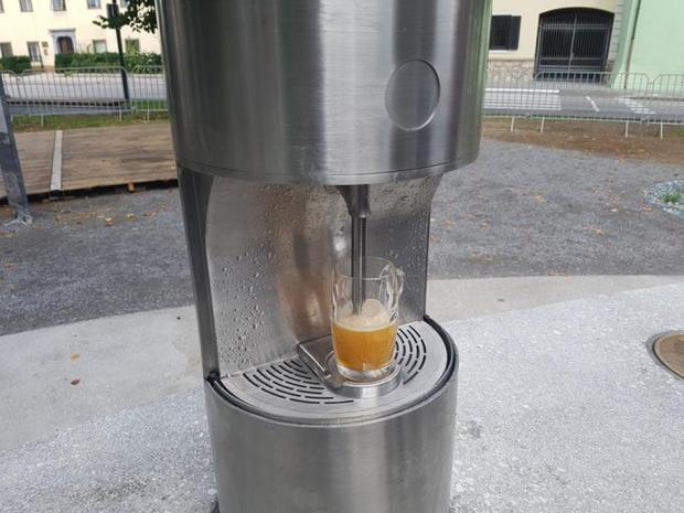 ВСловении открылся пивной фонтан