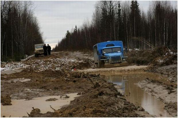 Русские дороги такимиже некачественными как в государствах Африки