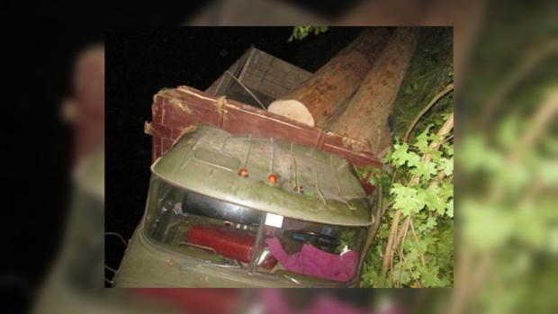 НаЗакарпатье перевернулся грузовой автомобиль скраденным лесом, двое погибших