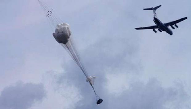 Навидео попало крушение военной машины ВСУ, сброшенной сИл-76