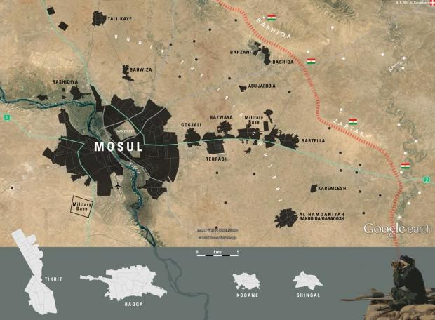 Вооруженные силы Ирака иСША начали артобстрел восточной части Мосула