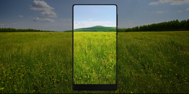 Появились «живые» фото безрамочного телефона Xiaomi MiMIX