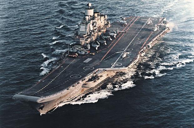 Видео взлета самолетов ВКСРФ савиносца «Адмирал Кузнецов» появилось вweb-сети