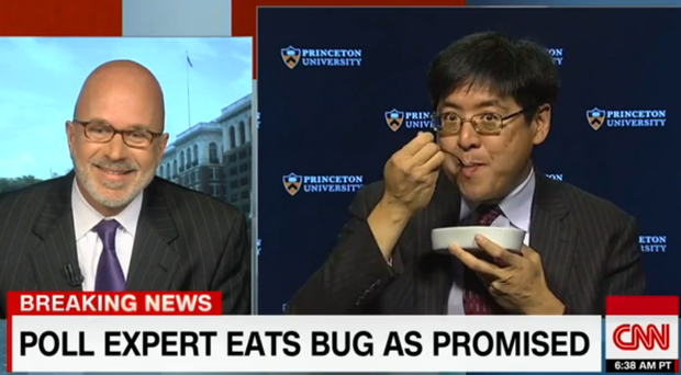 Политолог съел жука впрямом эфире из-за победы Трампа