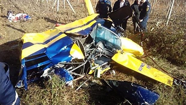 ВКрыму погибли три человека при крушении вертолета