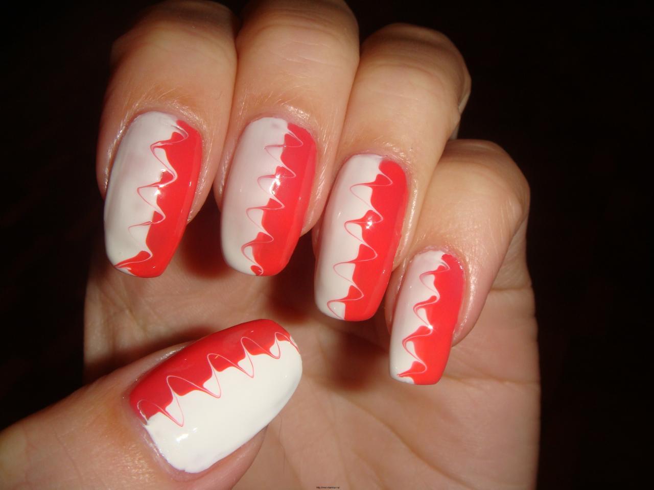 Узор на ногтях в домашних условиях 63