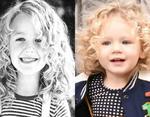 Блейк Лайвли в детстве (слева) и дочь Джеймс (справа)