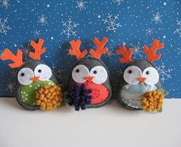 Игрушки на елку своими руками: текстильные новогодние украшения