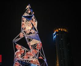 В Казахстане установили хайтек-елку