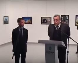 Убийство посла РФ в Турции: опубликовано полное видео как стрелок выбирал позицию