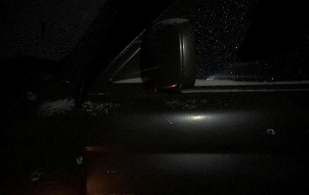 Подороге вДнепр расстреляли авто лидера «Азова»