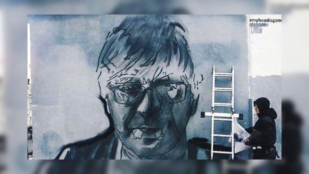 ВПетербурге нарисовали граффити сЮрием Шевчуком