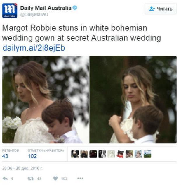 Марго Робби внеобычном свадебном одеяние: всеть просочились фото сцеремонии