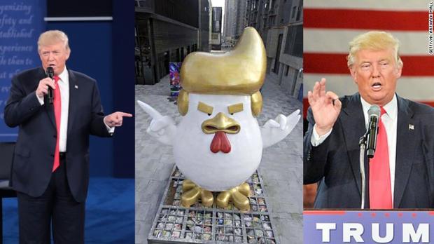 В КНР возникла скульптура петуха, подобная наДональда Трампа