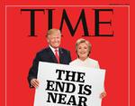 За несколько дней до начала выборов в США журнал Time опубликовал очередную обложку с надписью «Конец близок». Из-за простоты редактирования оформление журнала стало популярным поводом для шуток.