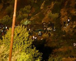 Автобус с людьми сорвался в ущелье в Израиле: есть погибшие и раненые