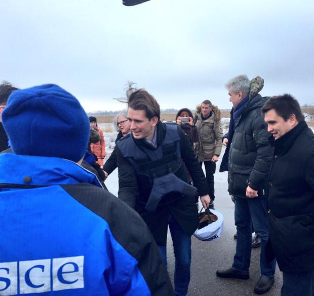 Руководитель МИД Украины ипредседатель ОБСЕ приедут вДонбасс