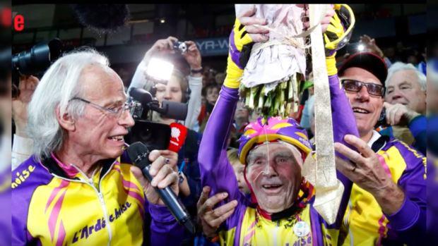 105-летний француз поборол навелосипеде 22,5км зачас