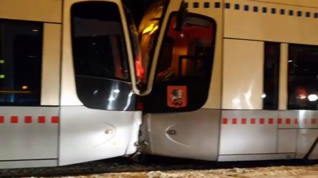 Четверо пострадали вДТП с 2-мя трамваями насеверо-западе столицы