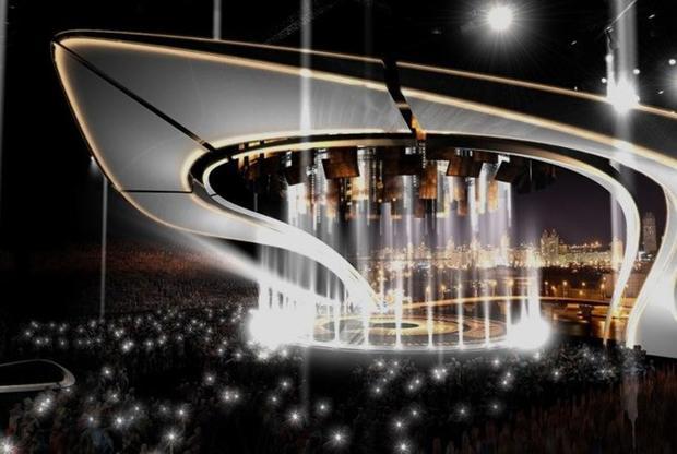 Макет сцены «Евровидения-2017» представили организаторы