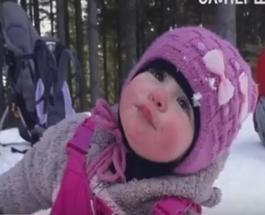 Знай наших: черкащанка, которой всего один годик, зимой взошла на Говерлу