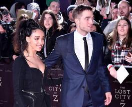 Роберт Паттинсон не сводил взгляда с невесты на премьере фильма «Затерянный город Z»