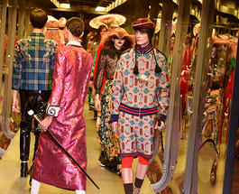 Неделя моды в Милане: немножко сумасшедшие наряды от Gucci