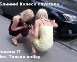 Приколы про блондинок: парковка двух