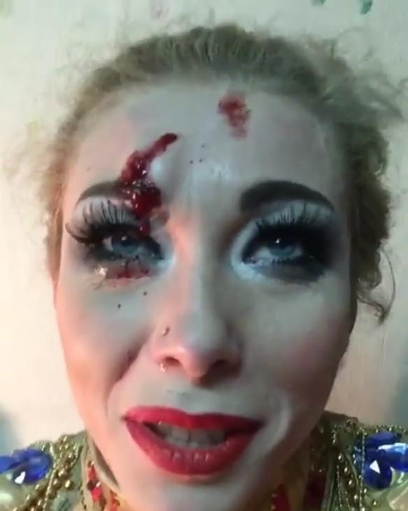 Екатерина Запашная разбила лицо, упав сверблюда навыступлении