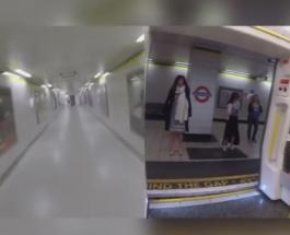 Смешное видео: британец пробежал наперегонки с поездом метро
