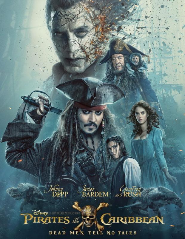 Появился новый трейлер «Пиратов Карибского моря-5» сДжеком Воробьем без бороды