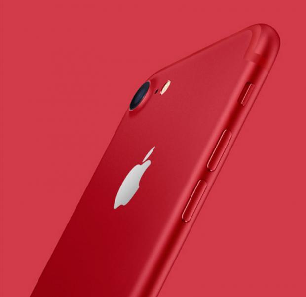 Apple представила красный iPhone 7
